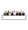 business men in a line vector image