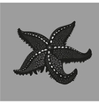 Black starfish on isolated background Tattoo vector image