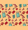 underwear clothes love object seamless pattern vector image