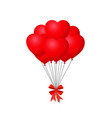 3d realistic bunch of red birthday or valentines vector image