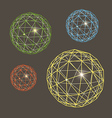 Abstract geometric sphere collection vector image vector image