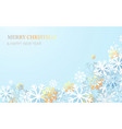 abstract white and gold snowflakes background vector image vector image