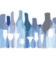 alcoholic bar menu vector image vector image