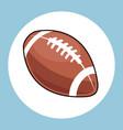 american football ball equipment icon vector image vector image