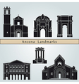 Ancona landmarks and monuments vector image vector image