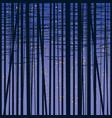 birch grove background against dark sky vector image