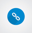 Blue Flat Link Icon vector image
