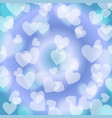 blue heart bokeh pattern vector image vector image