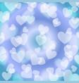 blue heart bokeh pattern vector image