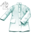 Blue medical gown nobody medicine icon vector image