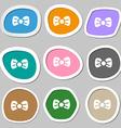 Bow tie icon symbols Multicolored paper stickers vector image vector image