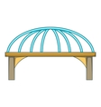 Bridge with steel supports icon cartoon style vector image vector image