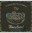 brown background with nest full of easter eggs vector image