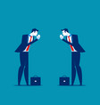 business partners pay respect hands greeting vector image