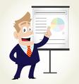 Businessman Doing Presentation vector image