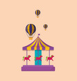 carnival carousel icon vector image