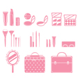 Cosmetic Equipments Set Monochrome vector image vector image