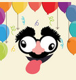 crazy face balloons fools day vector image