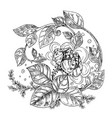 detailed background from fantasy flowers vector image