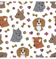 dogy-02 seamless parten with dogs vector image