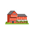 farm house and barn agricultural building vector image vector image