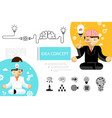 flat creative idea composition vector image vector image