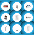 flat icon component set of headlight silencer vector image vector image