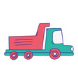 full color dump truck industry and contruccion vector image vector image
