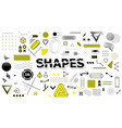 geometric sign shapes elements in memphis style vector image