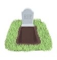 Grave icon in cartoon style isolated on white vector image vector image