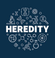 heredity round in outline vector image vector image