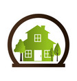 home ecology green icon vector image