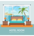 Hotel room with sea vector image