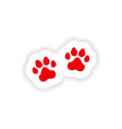 icon sticker realistic design on paper traces vector image vector image