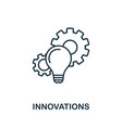 innovations outline icon thin style design from vector image vector image