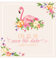 invitation card set - flamingo theme vector image vector image