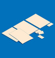 isometric flat of blank sheets vector image