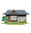 japan traditional house vector image
