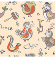 jazz concept wallpaper Birds sing and dancing vector image vector image