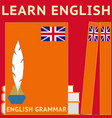 learn english for english language courses school vector image vector image