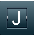Letter J from mechanical scoreboard vector image