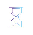 line hourglass object design to know the time vector image vector image