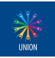 logo union people vector image vector image