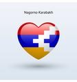 Love Nagorno-Karabakh symbol Heart flag icon vector image vector image