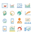 Market analysis diagrams icons vector image vector image