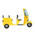 motor rickshaw tuk-tuk indian taxi transport vector image vector image