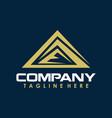 mountain triangle sport logo creative concept vector image vector image