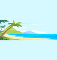 panoramic beach tropical island vector image vector image