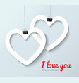 paper cut heart realistic vector image