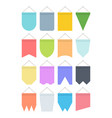pennant colour banner set bright festive hanging vector image vector image